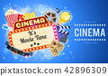 Cinema and Movie Banner 42896309