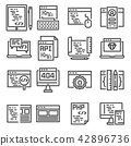 Set of vector web development line icons. 42896736
