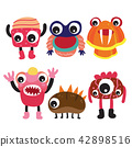 monster character collection design 42898516