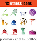 icon, fitness, set 42899027