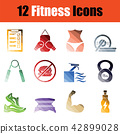 icon, set, fitness 42899028