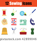 Sewing icon set 42899046
