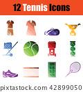icon set tennis 42899050