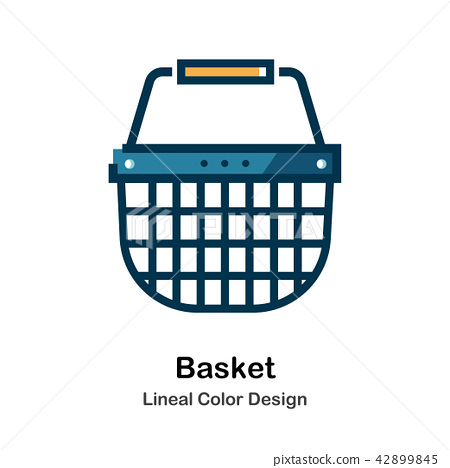 Basket Lineal Color Icon 42899845