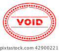 Grunge red void word oval rubber seal stamp 42900221