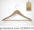 Cloth hanger isolated. 3d vector illustration 42900419