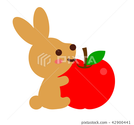 Rabbits and apples 42900441
