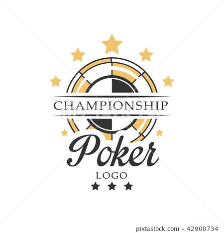 Poker championship logo, vintage emblem for gambling club, casino, championship vector Illustration 42900734