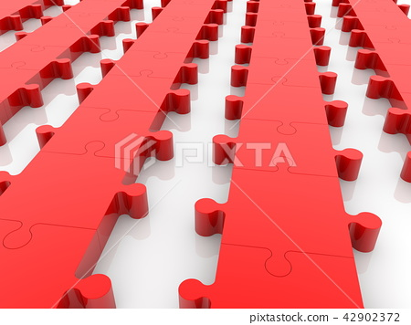 Rows of red puzzle 42902372
