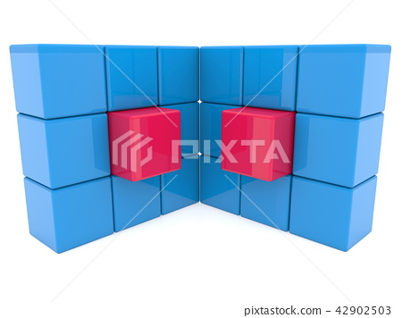 Two abstract cube walls 42902503