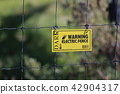Electric fence Danger Notice 42904317