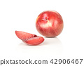 Fresh pluot interspecific plums isolated on white 42906467
