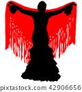 silhouette of flamenco dancer 42906656