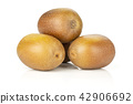 golden brown kiwi fruit sungold isolated on white 42906692