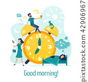 Good morning. Creative concept with characters 42906967
