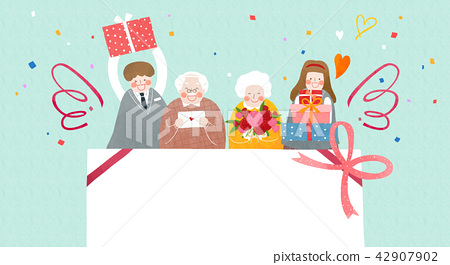 Vector - illustration for thanked the teachers and the parents for their hard work 007 42907902