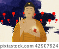 Vector - Buddha's Birthday illustration 017 42907924