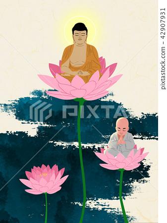 Vector - Buddha's Birthday illustration 010 42907931