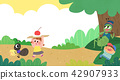 Vector - Children's dreams of a fairytale land, they living in a fairy story illustration 014 42907933