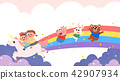 Vector - Children's dreams of a fairytale land, they living in a fairy story illustration 017 42907934