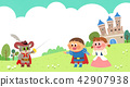 Vector - Children's dreams of a fairytale land, they living in a fairy story illustration 005 42907938