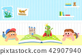 Vector - Children's dreams of a fairytale land, they living in a fairy story illustration 016 42907940