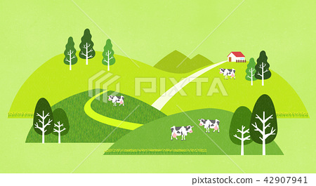 Vector - a lovely show of springtime. greenery scenes in spring. 010 42907941