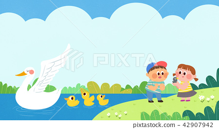 Vector - Children's dreams of a fairytale land, they living in a fairy story illustration 015 42907942
