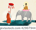 Vector - Buddha's Birthday illustration 003 42907944