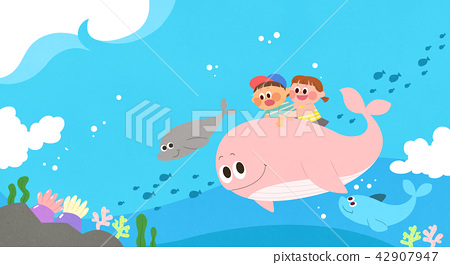 Vector - Children's dreams of a fairytale land, they living in a fairy story illustration 018 42907947