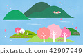 Vector - a lovely show of springtime. greenery scenes in spring. 002 42907949