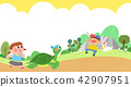 Vector - Children's dreams of a fairytale land, they living in a fairy story illustration 003 42907951