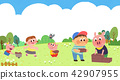 Vector - Children's dreams of a fairytale land, they living in a fairy story illustration 001 42907955