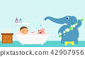 Vector - Children's dreams of a fairytale land, they living in a fairy story illustration 011 42907956