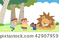 Vector - Children's dreams of a fairytale land, they living in a fairy story illustration 020 42907959