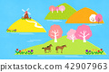 Vector - a lovely show of springtime. greenery scenes in spring. 009 42907963