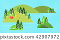 Vector - a lovely show of springtime. greenery scenes in spring. 007 42907972