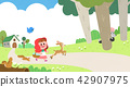 Vector - Children's dreams of a fairytale land, they living in a fairy story illustration 006 42907975