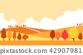Vector - Natural scenery, spring, summer, fall and winter. Four seasons vector illustration 013 42907981