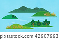Vector - a lovely show of springtime. greenery scenes in spring. 001 42907993