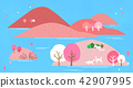 Vector - a lovely show of springtime. greenery scenes in spring. 006 42907995