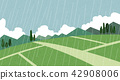 Vector - Natural scenery, spring, summer, fall and winter. Four seasons vector illustration 006 42908006