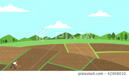 Vector - Natural scenery, spring, summer, fall and winter. Four seasons vector illustration 005 42908010