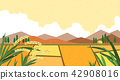 Vector - Natural scenery, spring, summer, fall and winter. Four seasons vector illustration 017 42908016