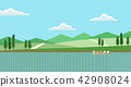 Vector - Natural scenery, spring, summer, fall and winter. Four seasons vector illustration 008 42908024