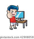 Vector - music and physical education vector cartoon Illustration 019 42908058