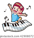 Vector - music and physical education vector cartoon Illustration 011 42908072