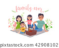 Vector - May is Family Month. vector illustration. 005 42908102