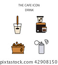 Vector - Coffee flat icon set. coffee equipment cafe with sweets retail service bakery. 040 42908150