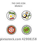 Vector - Coffee flat icon set. coffee equipment cafe with sweets retail service bakery. 028 42908158